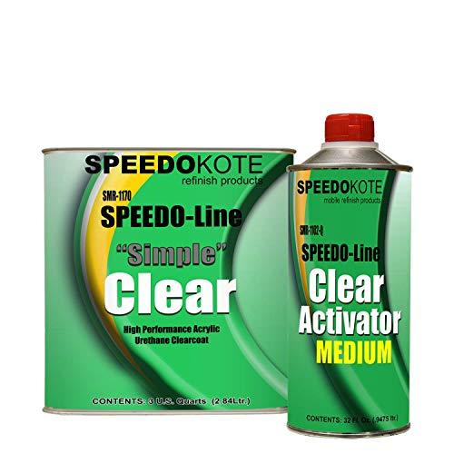 Automotive Acrylic Urethane Clear Coat, 3:1 mix Clearcoat gallon Kit w/Medium Act., SMR-1170/1102