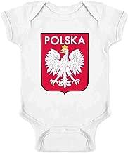 Poland Soccer National Team Football Retro Crest Infant Baby Boy Girl Bodysuit