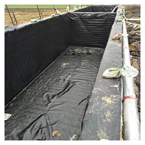 PVC Teichfolie 2x12 m Schwarz Bachlauf Teich Gartenteich 24m² Gartenteichfolie Gartenteich Bachlauf Plane Pond Bachbrunnen Wasserdichte Teichfolie Gartenteichfolie ( Color : Black , Size : 1x2m )