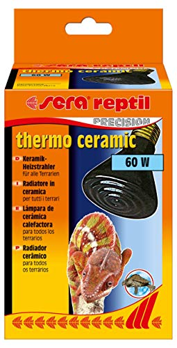 Sera 32010 Reptil Thermo Ceramic 60 W / E27 – Estufa de cerámica para terrario, Calefactor Oscuro o Calor para terrarios, Similar a Elstein