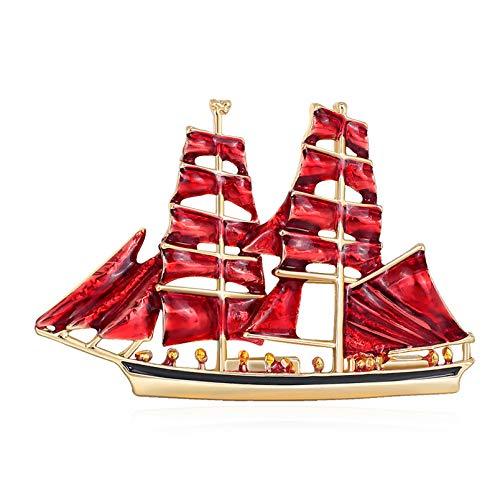 XSXCQ Voile Forme Rouge Blanc Goutte D'huile Broche Broche en Alliage Durable Vintage Charme Corsage Châle Cardigan Clip Femmes Hommes Cadeaux,Rouge