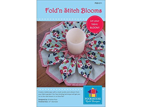 Poorhouse Quilt Designs PQD211 Fold 'n Stitch Blooms Quilt Pattern