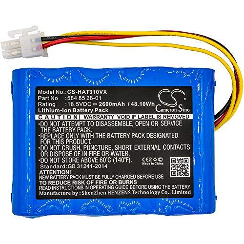 cellePhone Akku Li-Ion kompatibel mit Husqvarna Automower 310 315 - Gardena Sileno City 250 Sileno+ (Ersatz für 584 85 28-01) - 2600 mAh