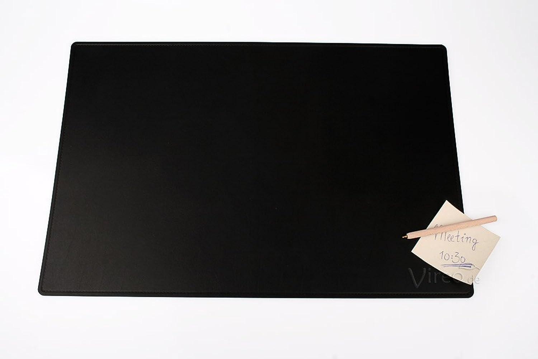 Schreibunterlage 60x40cm schwarz, aus Recycling-Leder B008CZ8K6G   | Queensland