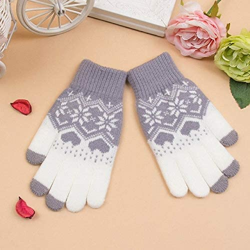 Fashion Knitting Touch Screen Gloves Soft Winter Men Women Texting Active for Smart Phone - (Color: As The Picture, Gloves Size: One Size)