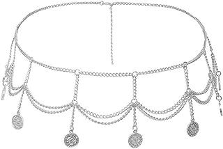 LiLiMeng Fashion Lady Pendant Metal Chain Metal Thin Belt Simple Wild Summer Dress Charm Body Chain Jewelry