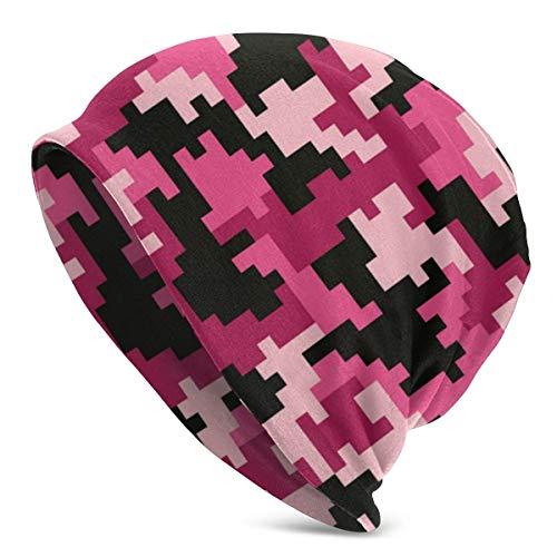 shenguang Pink Camo Terrain Disfraz de Camuflaje Digital Unisex Gorro de Punto, Gorro de Calavera, Gorro de Punto