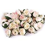 50 Stk. 3cm künstliche Seide Rosen Köpfe Hochzeit Blumendekoration