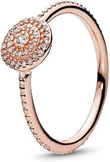 Elegant Sparkle Ring in PANDORA Rose with Clear Cubic Zirconia, Size 5 US / 50 EURO