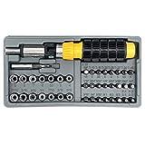vendify® Steckschlüsselsatz 41-teilig Ratsche mit Bitsatz, Schraubendreher Schraubenschlüssel...