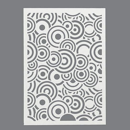 efco Kreise Schablone in 1Design, Kunststoff, transparent, A5