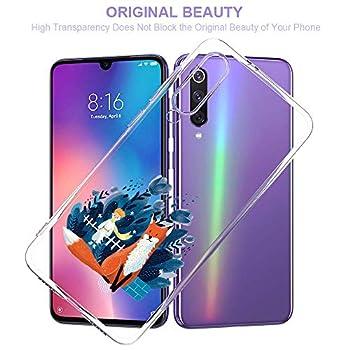 Oihxse Clair Case pour Xiaomi Pocophone F1 Coque Ultra Mince Transparent Souple TPU Gel Silicone Protecteur Housse Mignon Motif Dessin Anti-Choc Étui Bumper Cover (A5)