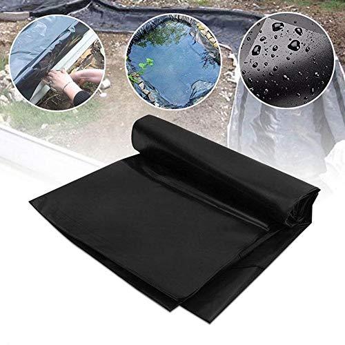 GDMING Revestimientos De Estanque 0.6mm De Espesor PVC Resistencia Al Desgarro Membrana Flexible Pieles De Piscina para Peces con Planta La Seguridad, 53 Tamaños (Color : Black, Size : 3x9m)