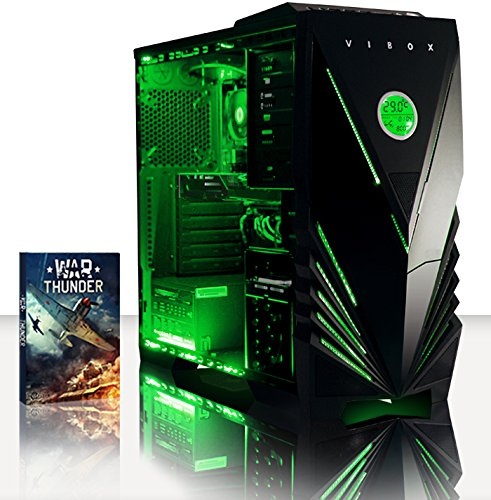 VIBOX Scope 37 Gaming PC Computer mit War Thunder Spiel Bundle (3,9GHz AMD A4 Dual-Core Prozessor, Nvidia Geforce GT 730, 4Go DDR3 1600MHz RAM, 500GB HDD, Ohne Betriebssystem)