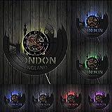 yrfchgj Reloj de Vinilo con Paisaje Urbano de Londres Inglat