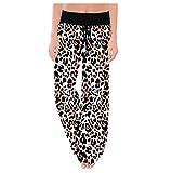 Pantalons de Yoga pour Femmes Larges Grandes Tailles Printemps Pantalons de survêtement LuckyGirls 2020 Chic Femmes Sport d'été élastique Pantalon à Carreaux Pas Cher Taille Haute Robe Droite léopard