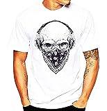 Maglia Counter Strike - T-Shirt Maschio - Uomo Teschio - Cranio - Manica Corta - Bandana - Metal - Rock - Bikers - Punk - Bianco - Idea Regalo Originale - Misura L
