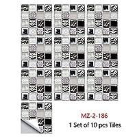 10ピースホームステッカーウォールステッカーフロアステッカーの壁デカール台所のための防水モザイクタイルステッカーホームの装飾 (Color : 13, Size : 30x30cm)
