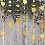 3 Pz Decorazione Del Partito Cerchio A Pois Stella Ghirlanda Banner Luminoso Nastro Appeso Ornamenti Glitter Stelle Bunting Banner Sfondo