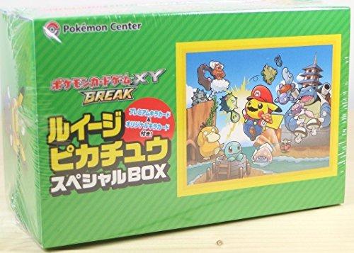 Pokemon Center 20th Anniversary Pokemon XY Break Super Mario Bros Pikachu Cosplay Luigi Box