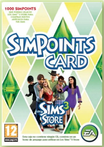 Sims 3 Simpoints Retail Card