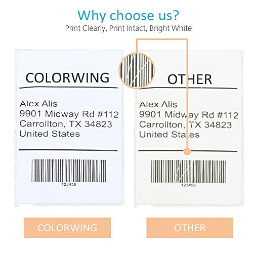 """COLORWING Compatible Shipping Labels Replacement for 2-5/16"""" x 4"""" Dymo Labels 30256 LW Large Shipping Labels 59 mm x 102 mm, White, for Dymo LabelWriter 450 Twin Turbo and Rollo Printers, 12 Roll Photo #7"""
