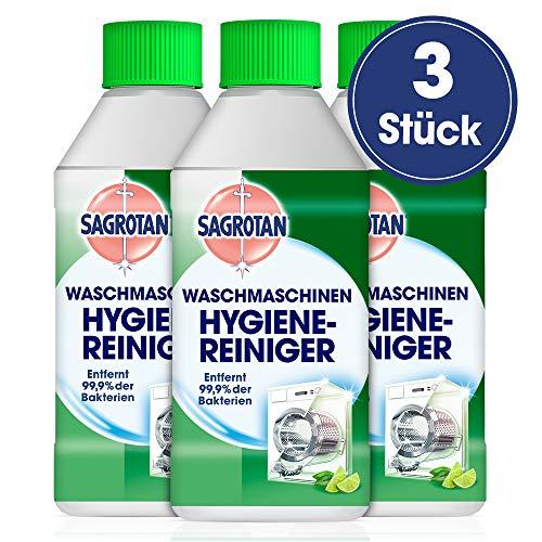 Sagrotan Waschmaschinen Hygiene-Reiniger – Maschinenreiniger für eine hygienische Waschmaschine – 3 x 250 ml Reiniger im praktischen Vorteilspack