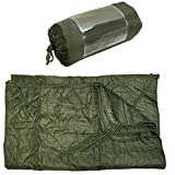 ProlineMax OD Green 86''L x 58''W G.I Style Poncho Liner Blanket Sleeping Bag Liner Rip-Stop Nylon w/Pouch