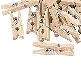 Pinzas de madera de color natural, 10 unidades