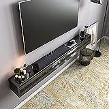 Bxzzj Consola Multimedia De Pared, Mueble TV/Soporte De TV Flotante, Gabinete De Pared De 47.2 Pulgadas con 3 Puertas, Orificio De WiFi Reservado para El Enrutador (9 * 1.37 Pulgadas)