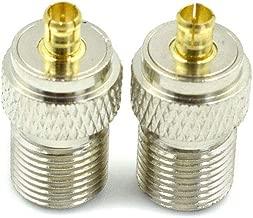 Hxchen Coaxial RF Connector RF Adapter MCX-J Male to F-K Female 75 Ohms - (2 Pcs)