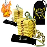 Flames 'N Games Pro POI de Fuego - Fire POI Set 'Catedral' + Bolsa de Viajo! Malabarismo de Fuego para Principiantes y Profesionales