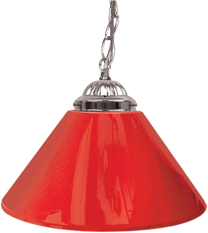 Trademark Gameroom Red Single Shade Gameroom Lamp, 14  (Silver Hardware)