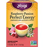 Yogi Tea - Raspberry Passion Perfect Energy (6 Pack) - Energizes and Supports Focus - 96 Tea Bags