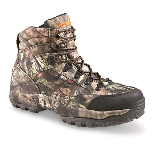 """Guide Gear Guidelight II 6"""" Men's Waterproof Hunting Boots Uninsulated, Lace Up Hiking Boots, Mossy Oak Break-Up Country, 12 2E (Wide)"""