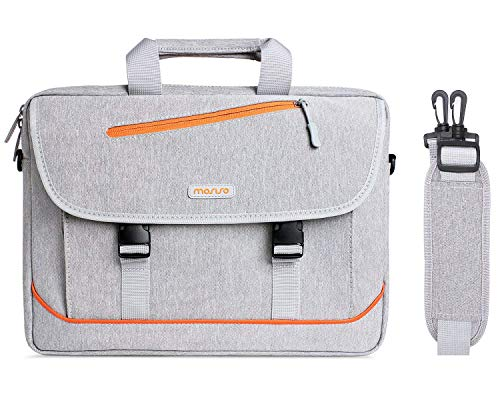 MOSISO Laptop Shoulder Bag Compatible with 13-13.3 inch MacBook Air, MacBook Pro, 13.5 Surface Laptop 3/2/1, Surface Book 2/1, Carrying Briefcase Sleeve Case with Quick Release Buckle, Gray