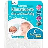 Babysom - Babymatratze | Kindermatratze Sommer/Winter - 60x120cm - Atmungsaktiv - Luftdurchlässiger Kaltschaum - Höhe 14cm