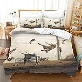 Gzmt Bettwäsche King Size 240X220Cm 3 Teilig Mit Bettwäsche Set Bettbezug Mit Reißverschluss Und...