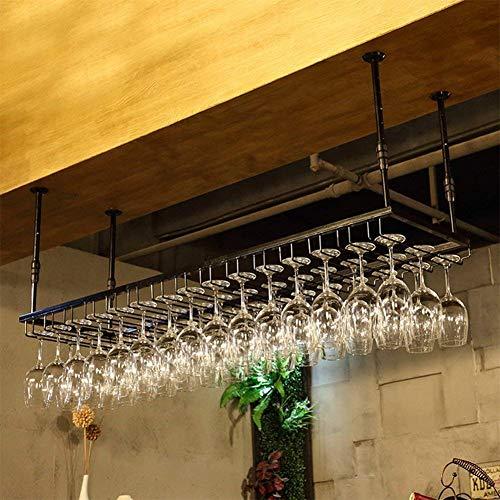 Estantes de vino que cuelgan el sostenedor de la copa de vino tinto para barra, soporte para vidrio, barra, soporte para vidrio volcado, soporte para vasos, soporte para cristalería, soporte para