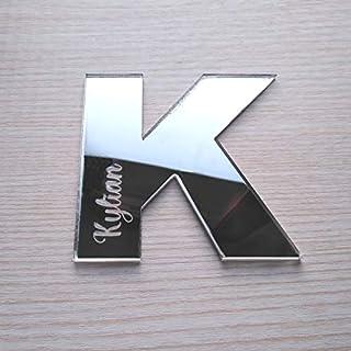 Lettres Miroir Adhésif Personnalisable - Lettre K - Dimensions 9,5 cm de haut - Initiale Autocollante Personnalisée - Alph...