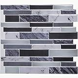 STICKGOO Panel de azulejos antisalpicaduras y antimoho de gama alta, lámina autoadhesiva...