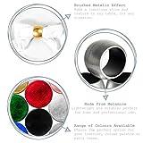 Argon Tableware Serviettenringe aus Gold - 6er Packung - 3