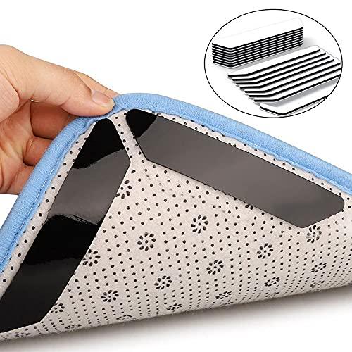 S SMAUTOP Pegatinas Antideslizantes para alfombras, Pinzas para alfombras Lavables Reutilizables, Cinta para alfombras, tapón de Alfombrilla para el Piso, para Oficina, baño, Cocina