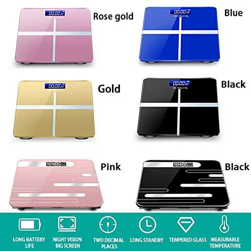 anruo Weegschaal Glas Slimme elektronische weegschaal USB Opladen Lcd-scherm Badkamer Vloer Lichaam Wegen Home Digitale weegschaal