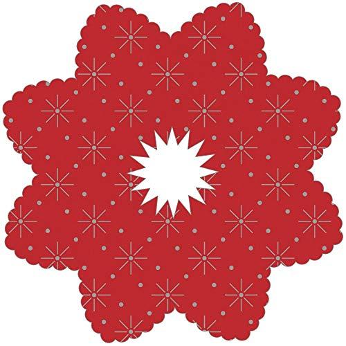 Tropfenringe aus Tissue in Rot, Ø100mm, Innenloch 22mm, 250 Stück - Mank