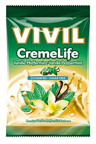 Vivil Creme life Vanille Pfefferminz zuckerfrei 110g 5er Pack