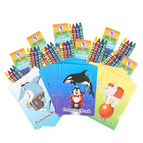 THE TWIDDLERS 90 Stück Mini Malbücher & Buntstifte - Mitgebsel für Kindergeburtstag
