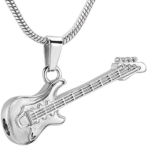 Necklace for Women Men Cremation Urn Necklace Memorial Jewelry Musical Instrument Cremation Necklace For Women And Men Glass Guitar Urn Necklace For Ashes Keepsake UrnPendant Necklace Girls Boys Gift