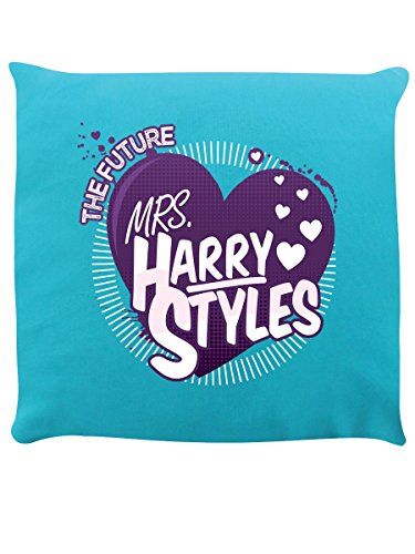 Grindstore Cuscino The Future Mrs Harry Styles Turquoise 40 x 40 cm in Turchese