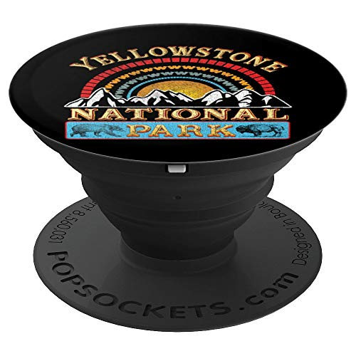 Vintage Yellowstone National Park Shirt Retro Mens Women - PopSockets Ausziehbarer Sockel & Griff für Smartphones & Tablets